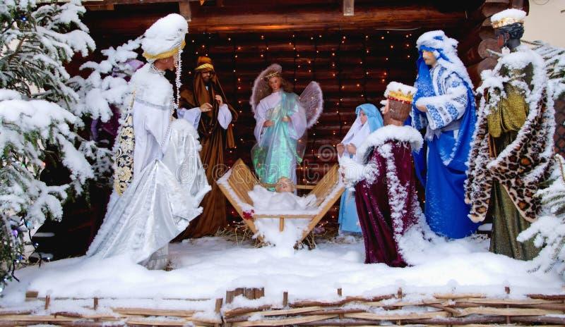 Christmas scene stock image