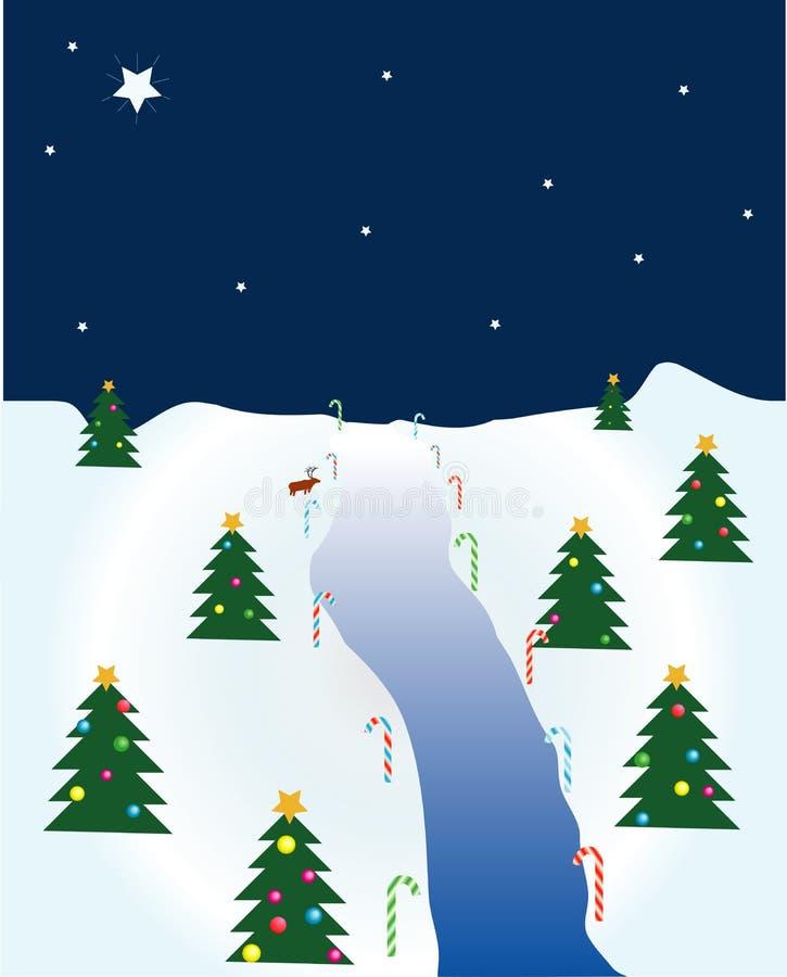 Christmas Scene stock illustration