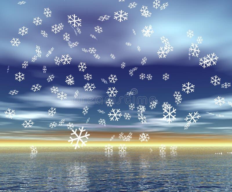 Christmas Scenery vector illustration
