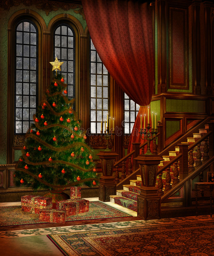 Free Christmas Scenery 3 Royalty Free Stock Photos - 11673728