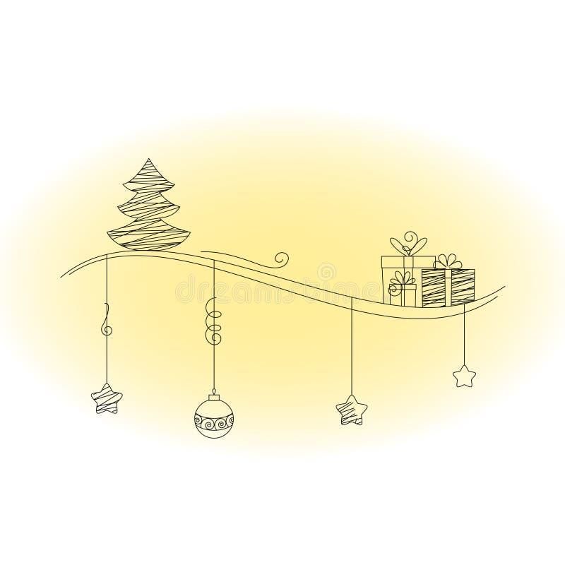 Download Christmas Scrawl Illustration Stock Vector - Image: 22308894