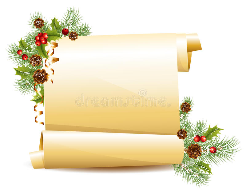 Download Christmas scroll stock vector. Image of decoration, design - 16801801