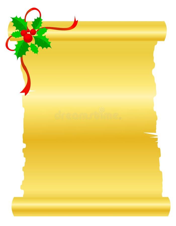 Christmas scroll paper vector illustration