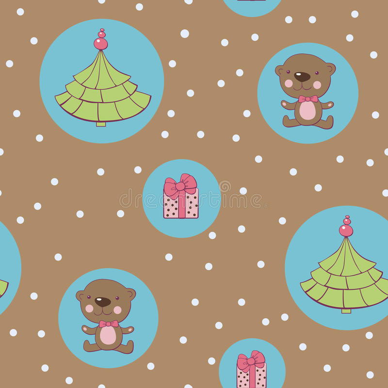 Download Christmas seamless stock vector. Image of teddy, holiday - 26804984