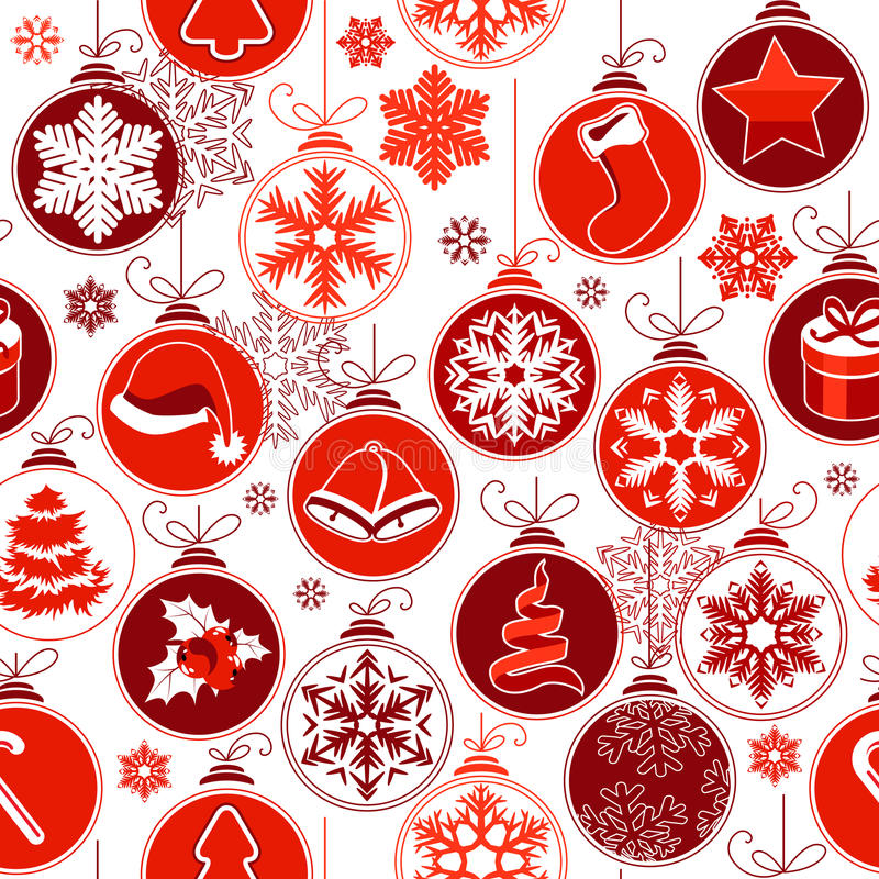 Christmas seamless background with balls vector illustration