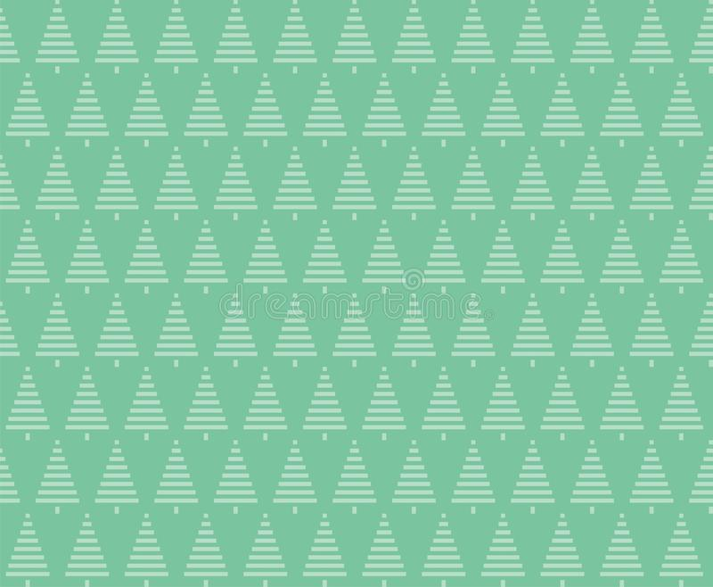 Christmas seamless background. Christmas trees seamless pattern royalty free illustration