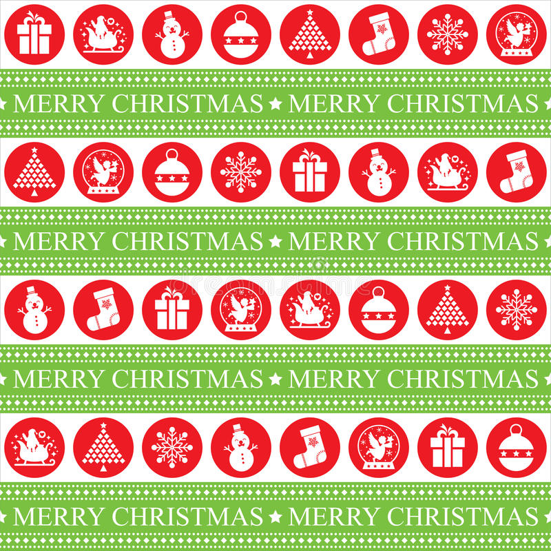 Christmas Seamless Patern. This is christmas seamless patern design. Vector file stock illustration