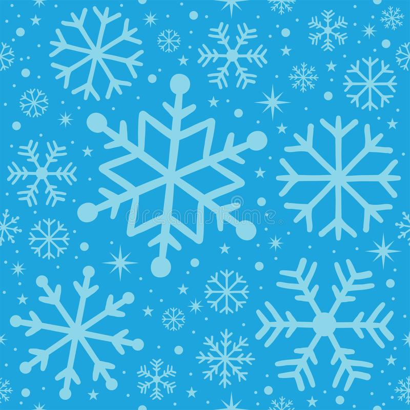 Christmas seamless patern - light blue vector illustration