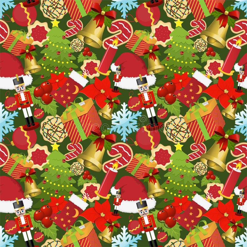 Christmas seamless pattern vector illustration