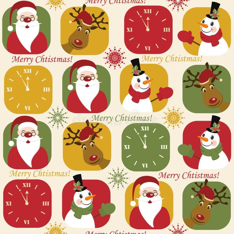 Christmas seamless pattern vector illustration