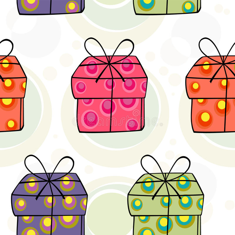Christmas seamless pattern royalty free illustration
