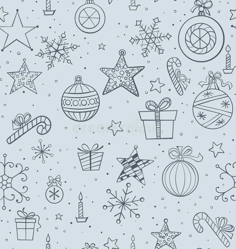 Download Christmas seamless pattern stock vector. Image of gift - 26386071