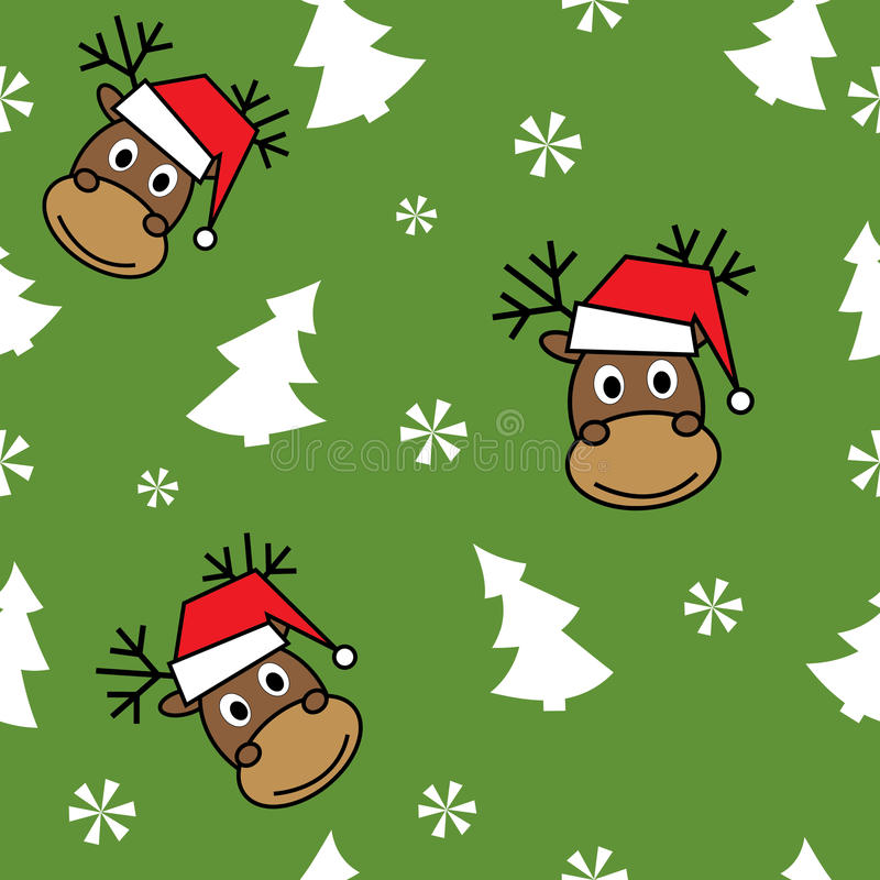 Download Christmas seamless pattern stock vector. Illustration of retro - 27087646