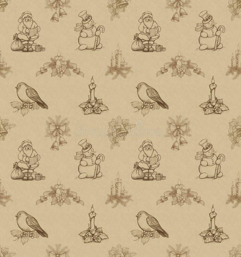Christmas seamless pattern stock illustration