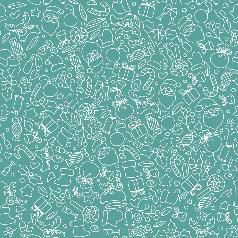 Christmas seamless pattern background. vector illustration