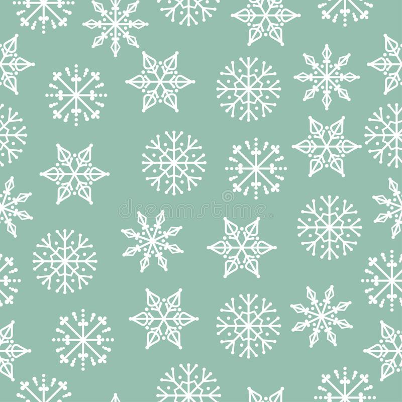 Christmas seamless pattern. Christmas background. Christmas wrapping paper. Flat design. Vector royalty free illustration