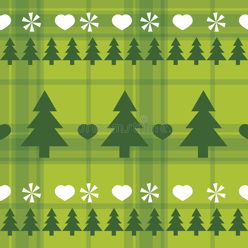 Download Christmas Seamless Pattern With Christmas Trees Stock Vector - Image: 27087659