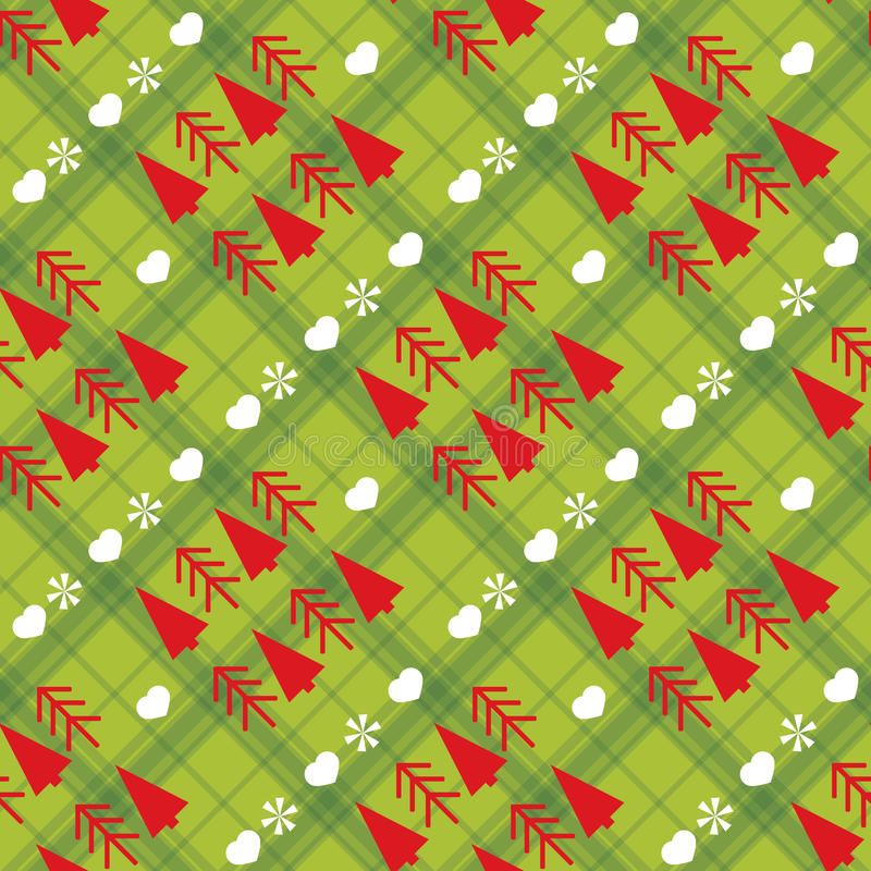 Christmas seamless pattern with Christmas trees