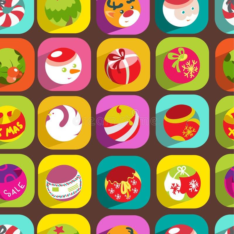 Download Christmas seamless pattern stock vector. Image of mistletoe - 34619630