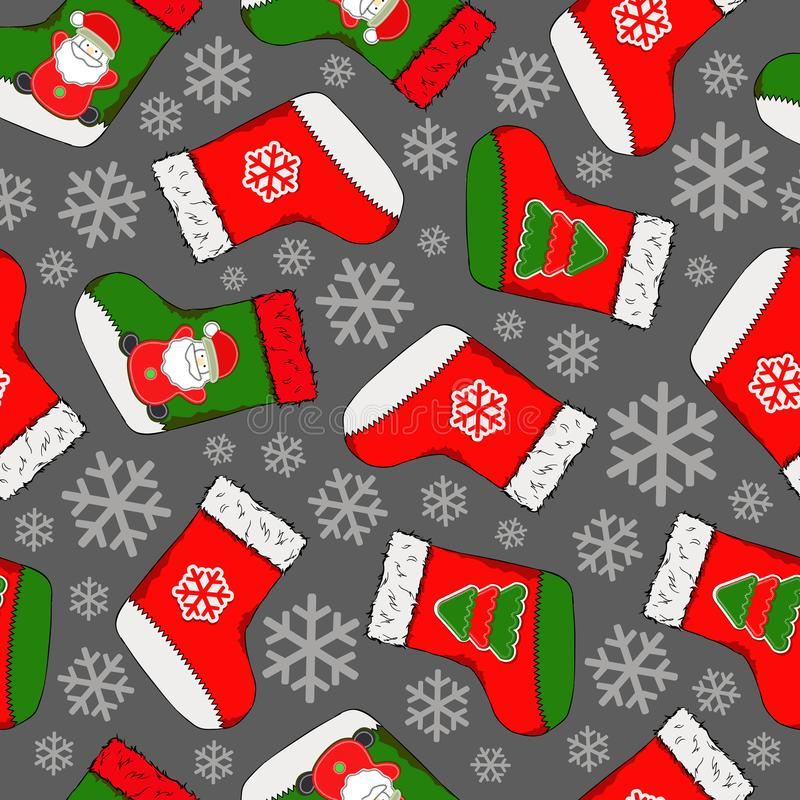 Christmas seamless pattern. Merry Christmas design. It can be used for wallpaper, web page and others. Vector illustration vector illustration