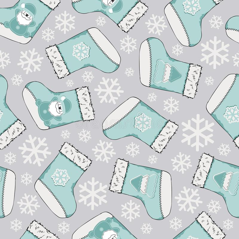 Christmas seamless pattern. Merry Christmas design. It can be used for wallpaper, web page and others. Vector illustration. royalty free illustration