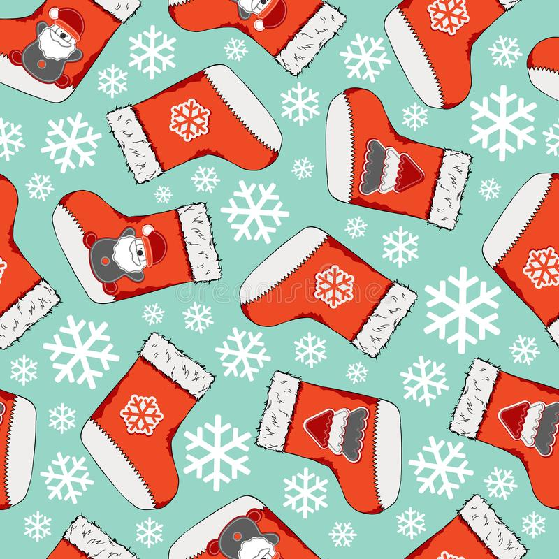 Christmas seamless pattern. Merry Christmas design. It can be used for wallpaper, web page and others. Vector illustration. vector illustration