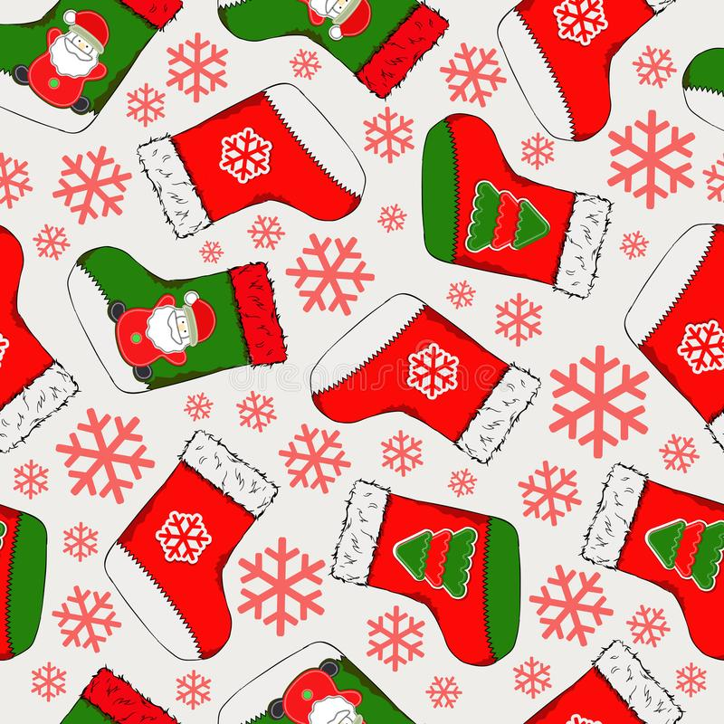 Christmas seamless pattern. Merry Christmas design. It can be used for wallpaper, web page and others. Vector illustration. stock illustration