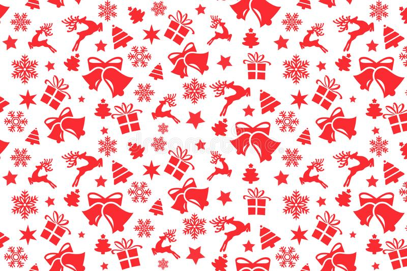 Christmas seamless pattern with Christmas red elements royalty free stock images