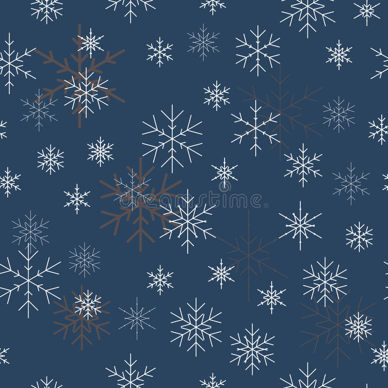 Christmas seamless pattern with snowflakes. Blue background for royalty free stock photos