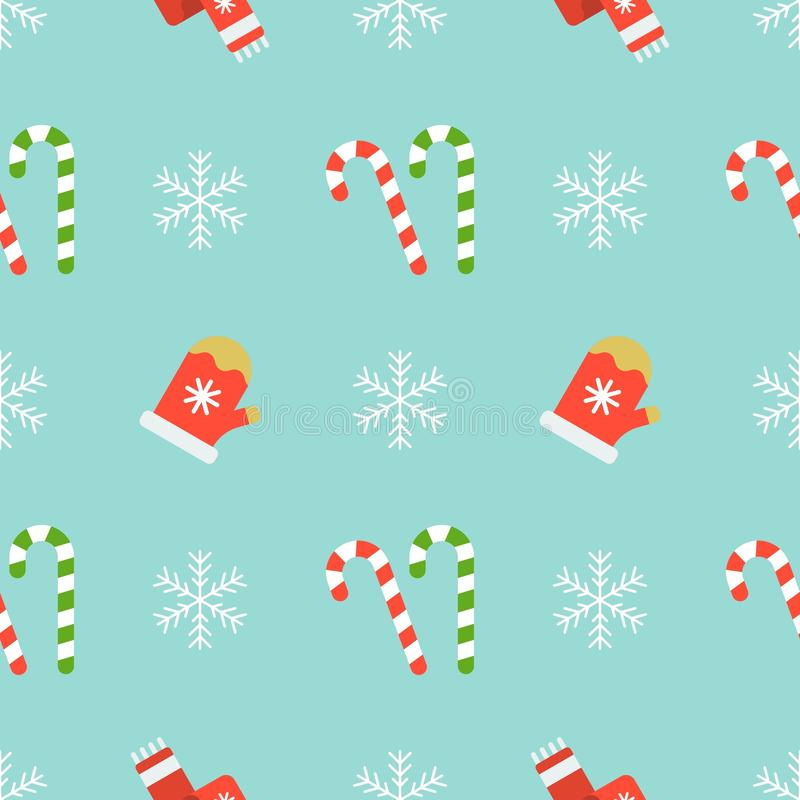 christmas seamless pattern use as wallpaper snowflake mitten gloves candy cane wrapping paper gift background 129979837