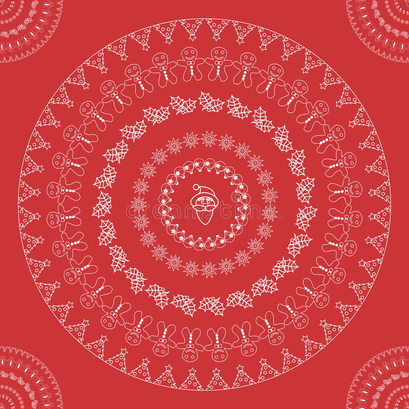 Christmas seamless pattern vector stock illustration