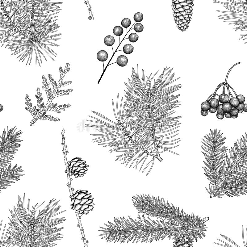 Christmas seamless pattern. stock image