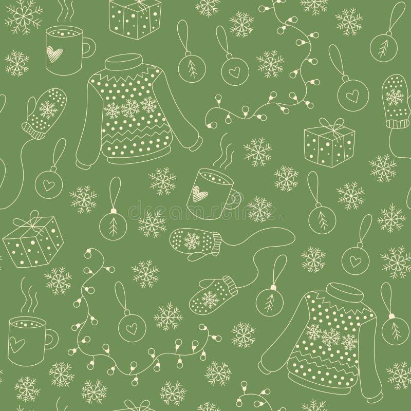 Christmas seamless pattern vector royalty free illustration
