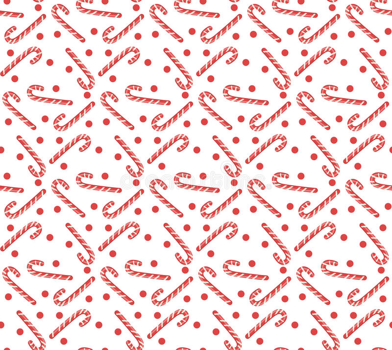 Free Christmas Seamless Pattern With Candy Cane. Christmas Background. Christmas Seamless Texture, Wallpaper, Fabric. Vector Stock Photography - 80385202