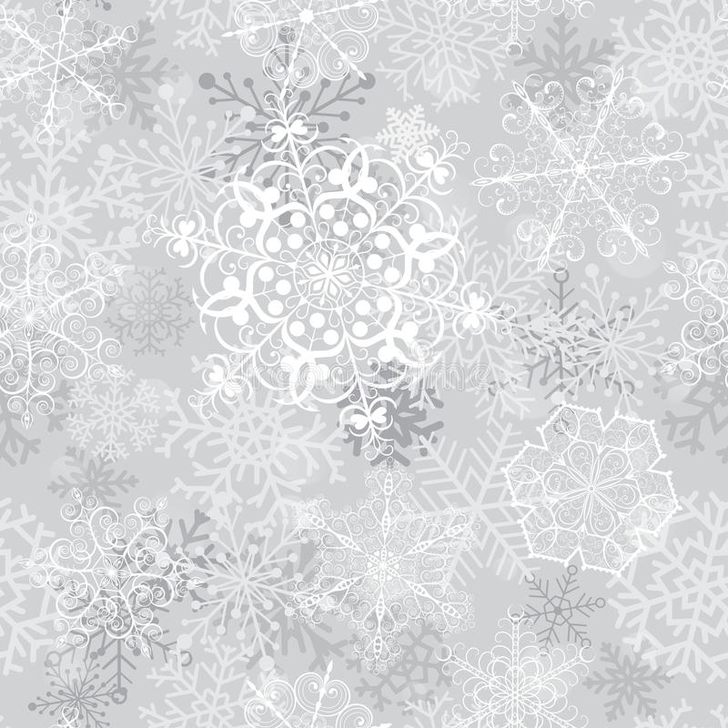 Free Christmas Seamless Pattern With Snowflakes Royalty Free Stock Photography - 35267307