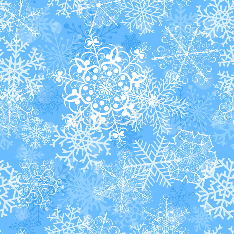 Free Christmas Seamless Pattern With Snowflakes Royalty Free Stock Photography - 35290437