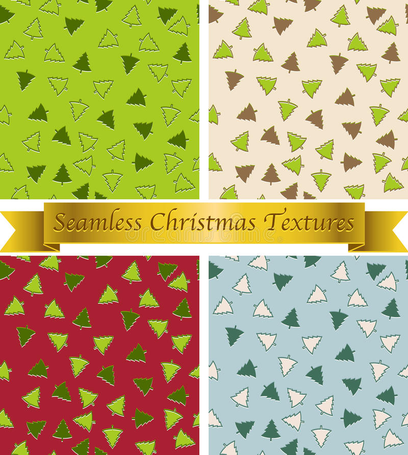 Christmas seamless patterns stock illustration