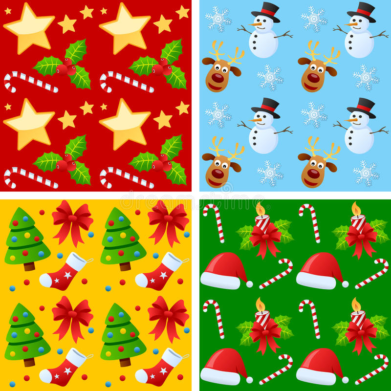Download Christmas Seamless Patterns Stock Vector - Image: 21902319