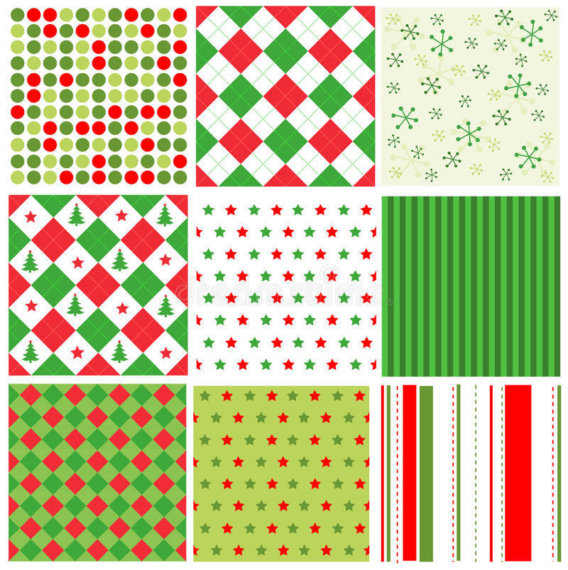 Free Christmas Seamless Patterns Stock Images - 25354734