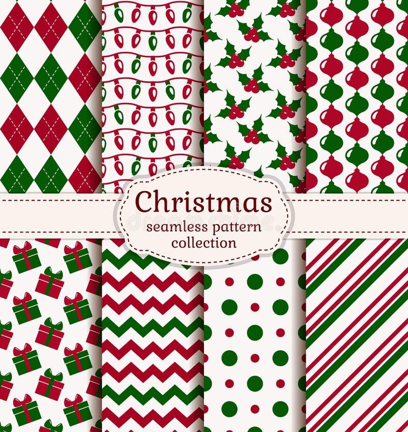 Christmas seamless patterns. Vector set. royalty free illustration
