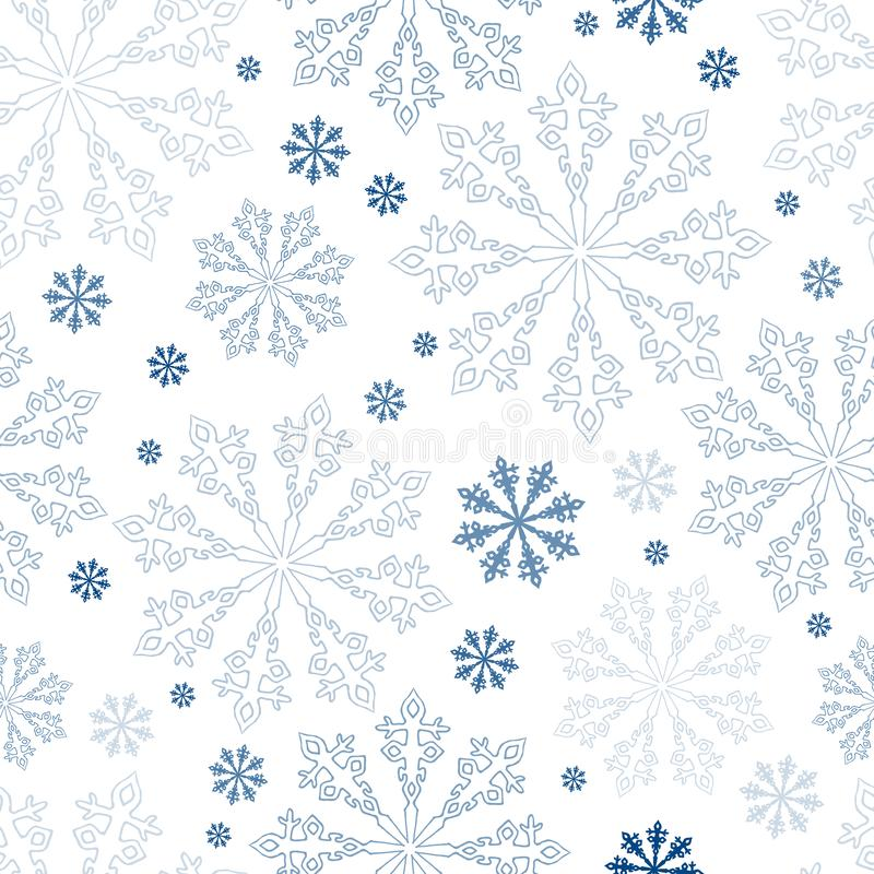 Christmas seamless snowflakes background. vector illustration