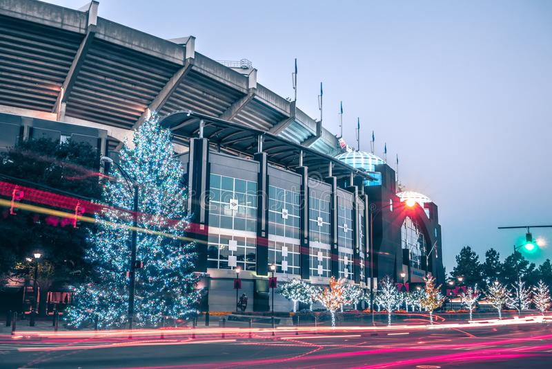 Christmas season decorations around charlotte north carolina and royalty free stock photos