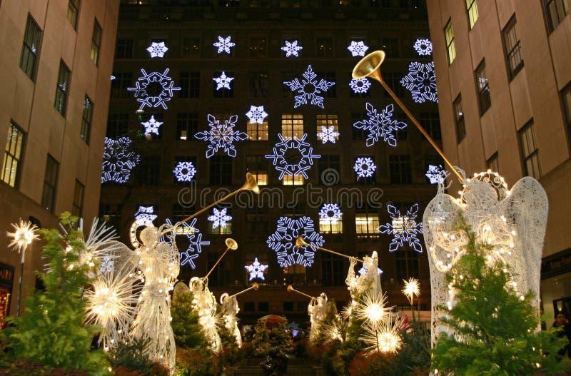 Christmas Season in New York stock photos