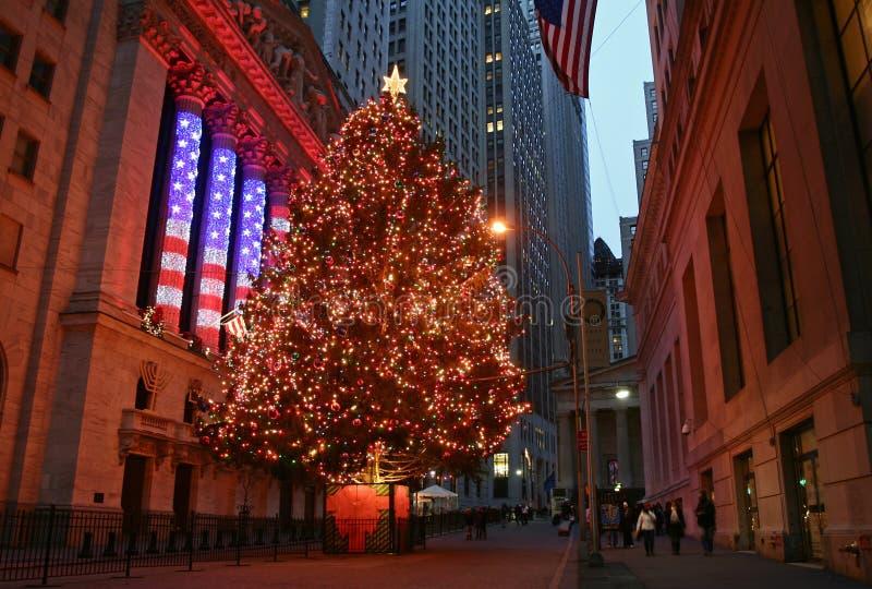 Christmas Season in New York stock images