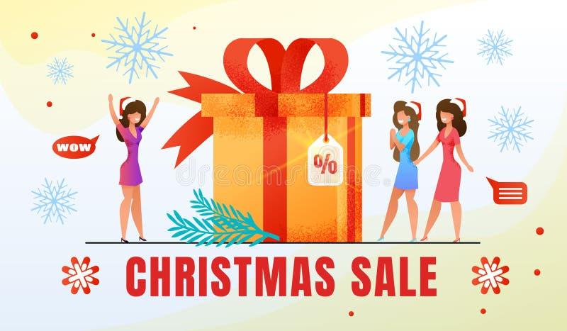 Christmas Holiday Shopping Sale Flat Vector Banner vector illustration