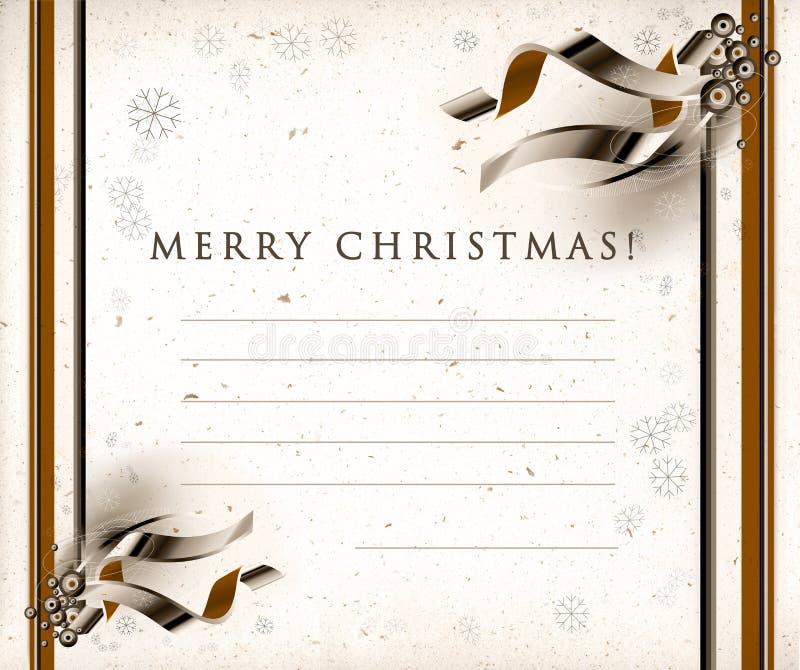 Christmas seasons postcard stock photos