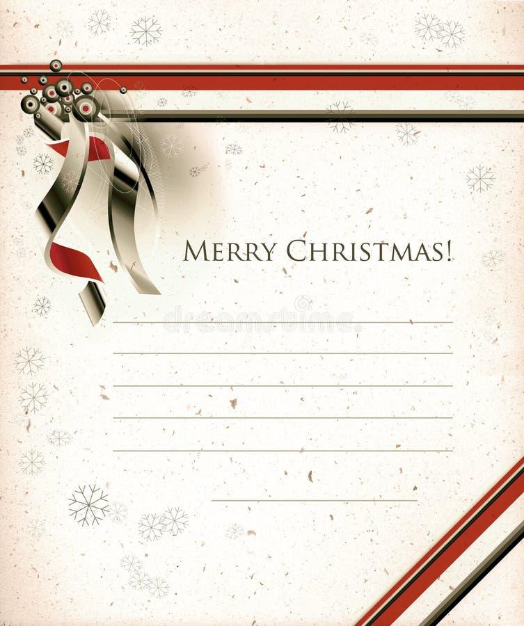 Christmas seasons postcard royalty free stock photos