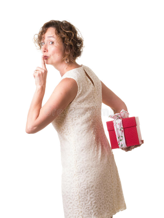 Download Christmas Secret stock photo. Image of wife, give, sign - 26753170