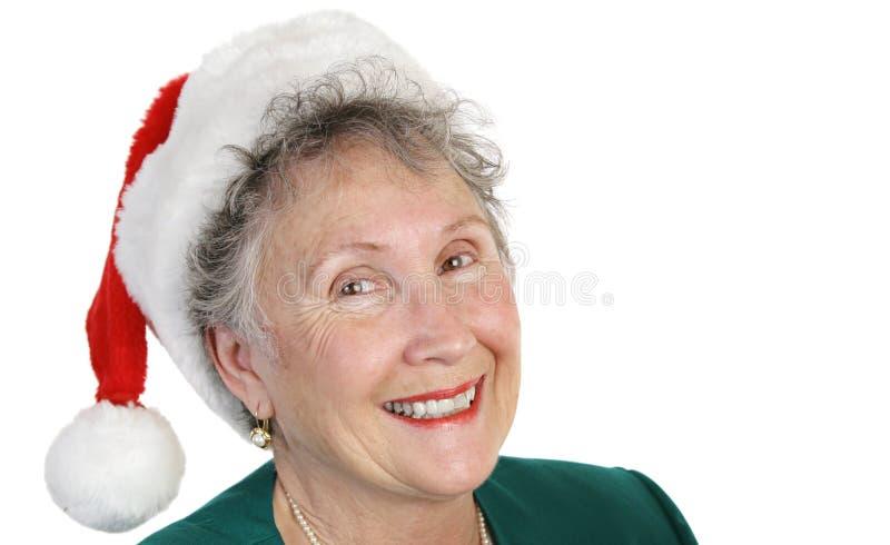 Christmas Senior Lady stock photography