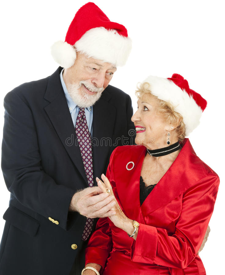 Christmas Seniors - Gift of Jewelry stock photo
